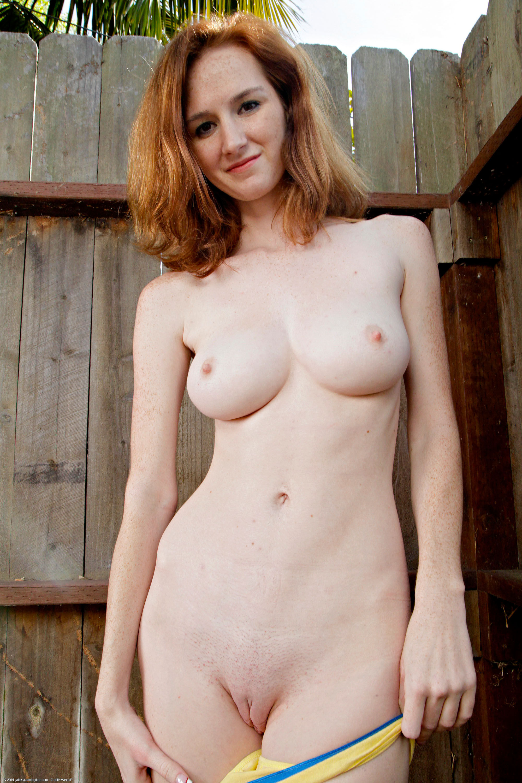 Skinny redhead milf masturbates pierced pussy 7