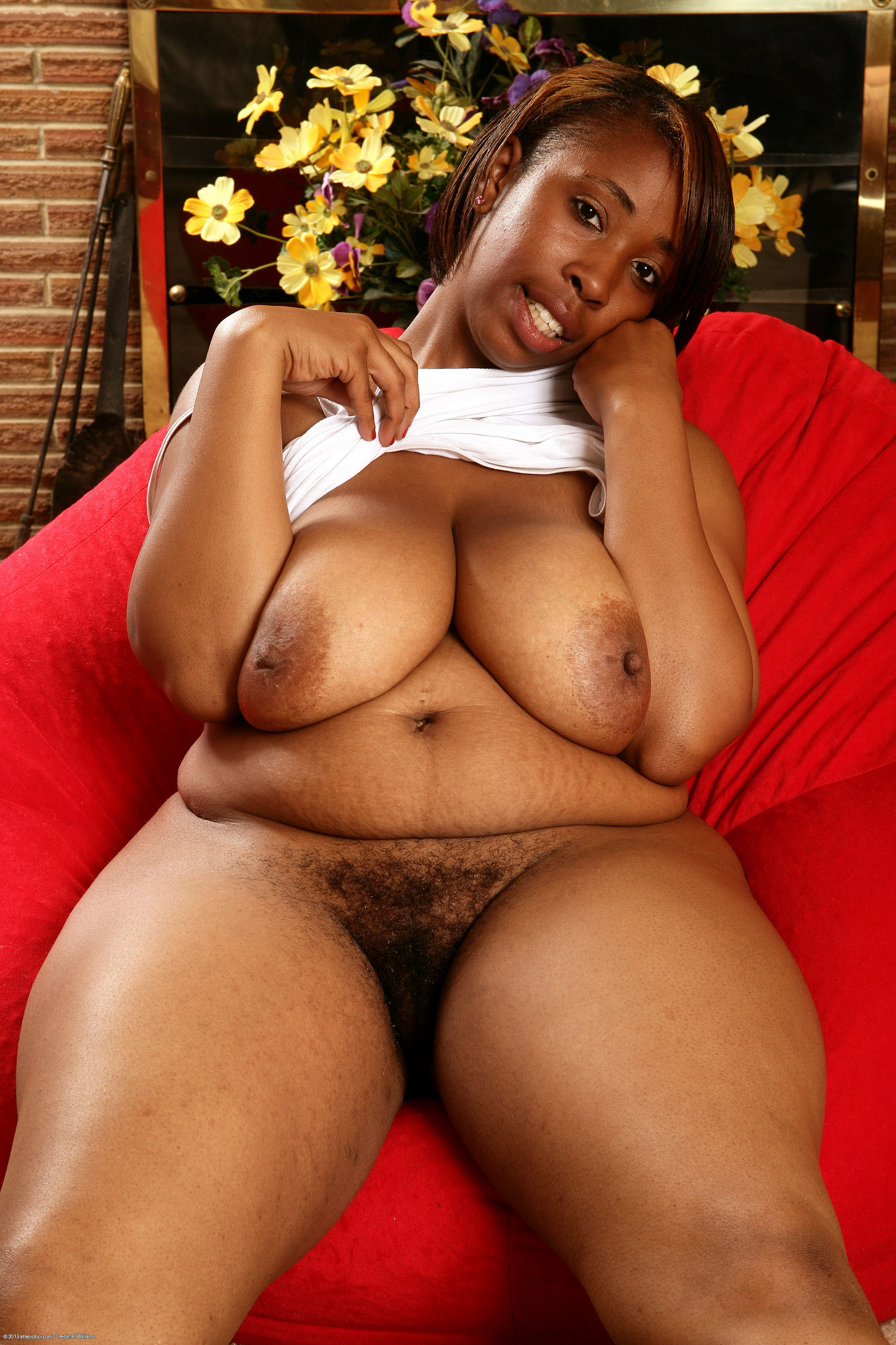 Chubby black ebony sex